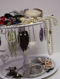 Agape Love Designs: Pottery Barn Inspired Tiered Jewelry Holder {TUTORIAL}