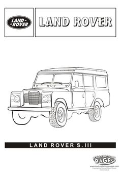 #LandRover s.lll from the Cars colouring pages.