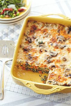 Who ever said lasagna had to be made with meat sauce? Try these delicious vegetarian lasagna recipes that combine roasted zucchini, yellow squash, peppers, onions, wilted spinach, and tomato sauce between layers of pasta, ricotta, and Parmesan cheese.