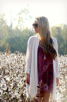Fall outfit with cardigan