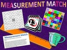 Measurement Match Activity for middle school: perfect for state test or STAAR