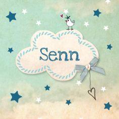 Vintage geboortekaartje wolk #geboortekaart #zoon #zoontje #sterren #wolken #oudblauw #oudgroen