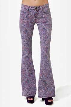 patterned bell bottoms