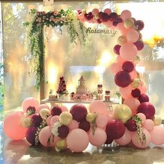 LAttLiv Balloons 70 Pcs Party Balloons Latex Balloons and Confetti Balloons Birthday Balloons Party Decor for Birthday Wedding Graduation Party Christmas Baby Shower - Wine Red & Baby Pink & Gold Image 5 of 6 Birthday Thank You, Baby Birthday, Birthday Parties, Christmas Baby Shower, Balloon Garland, Birthday Balloons, Baby Shower Themes, Wedding Decorations, Decor Wedding