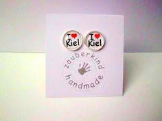 I ♥ Kiel Ohrstecker, silber 14mm