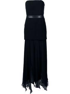Halston Heritage Schulterfreies Kleid mit drapiertem Design