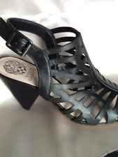 Vince Camuto 'Elem' Leather Sandal BLACK Sz 8.5 NEW