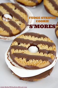 "Fudge Striped Cookie ""S'mores""countryliving"