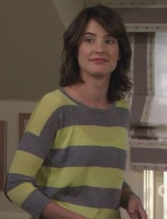 Robin's yellow and grey striped sweater on How I Met Your Mother