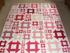 Bohemian Style Churn Dash Quilt. $225.00, via Etsy. What is bohemian about this?? Anyway, good layout of big and small blocks