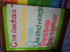Groups acronym bulletin board.