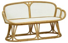 The Tulip Bench from Selamat Designs would be a great coastal addition to your home. The design of this coastal piece makes it a statement piece for years to come. The rattan paired with the white finish makes for a quality piece of furniture. White Now, Rug Sale, Office Accessories, Occasional Chairs, Home Decor Trends, Rattan, Vintage Shops, Tulips, Teak