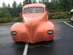 Salmon color cute car. by Clara's Rose, via Flickr