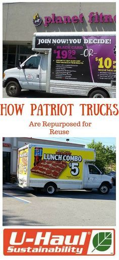 Patriot Creative Group leases re-purposed U-Haul trucks monthly to offer a unique and practical asset to small businesses. | Moving Trucks and Vans
