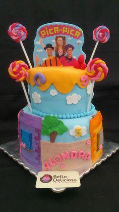 pastel  fiesta temática  Pica Pica