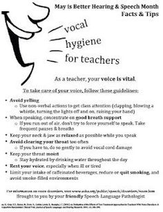 Vocal health and hygiene.  Voice therapy. Tips and advice for voice care.