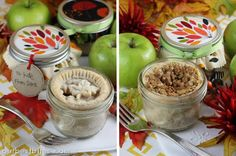 Single Serving Pie in a a Jar from Our Best Bites! Recipe and adorable printables included!