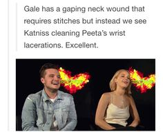 Yesss!!! And when Cressida said Gale needed stitches, I don't think anyone went to him :'D