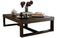 Dark Brown Watson Coffee Table View 2 Ashley (56 x 42) 199