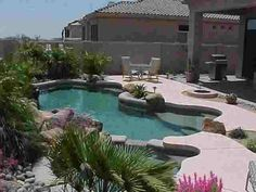 pool landscaping ideas | Below are a couple examples of swimming pool designs with shade areas ...