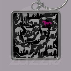 I believe in the invisible pink unicorn key chain from Zazzle.com