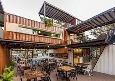 Shipping Container Architecture, 6 Restaurants in the Contenedores Food Place. To see more art and information about Contenedores Food Place click the image.