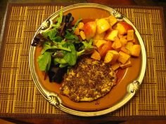 Paleo - Pecan Crusted Pork Chops w Butternut Squash and Apples