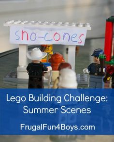 Lego Fun Friday: Summer Themed Building Challenge - Frugal Fun For Boys and Girls School Age Activities, Lego Activities, Fun Activities For Kids, Lego Games, Verona, Lego Challenge, Lego Club, Lego Craft, Activities For Kids