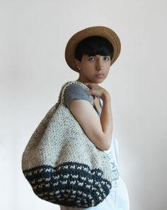very big crochet tote
