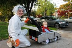 DYI car costume (or awesome Back to the Future costume)