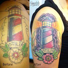 Lighthousetattoo fixed up