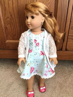 White Lace Cardigan for American Girl Dolls by TheSparklyGirl
