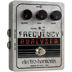 Electro-Harmonix Frequency Analyzer XO Ring Modulator Guitar Effects Pedal by Electro-Harmonix. $152.22. Save 24% Off!