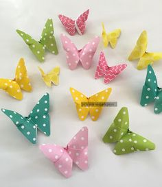 Hoe to make Paper Butterflies shared at katherines corner