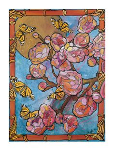Art Nouveau Spring Cherry Tree, color and flower inspiration