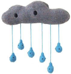 A cuddly condensation cloud! | These Spectacular Knitted Creatures Come From Your Wildest Imagination.