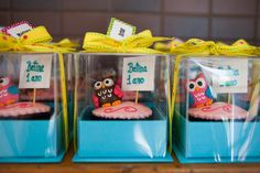 1 aninho | Decor Corujinhas | Cupcakes personalizados