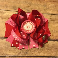 Valentine's Day hair bow hair clip baby girl toddler hair accessory #bowtifulblessings