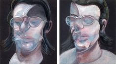 "transistoradio: "" Francis Bacon (1909-1992), Two Studies for Portrait of Clive Barker (1978), oil on canvas. © The Estate of Francis Bacon. All rights reserved. / DACS, London. Via @francisbacon. """