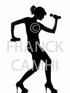 full length silhouette in shadow of a young woman workout body building with dumbells in studio on white background isolated     Transform the fat.  Transform your body forever weight-loss-women fat-loss excercuse inspiration ab-workout ab-challenge ab-challenge