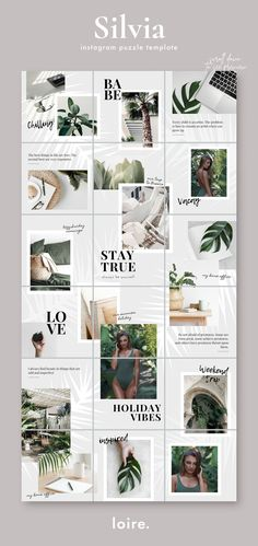 7 Puzzle template bundle for CANVA by Studio Loire on Instagram Design, Flux Instagram, Instagram Feed Layout, Feeds Instagram, Instagram Grid, Instagram Posts, Web Design, Design Jobs, Website Design
