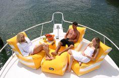 Boat Bean Bag Seat | Kush Ease Kahuna Bean Bag Lounger, Ottoman U0026 Kube