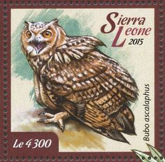 Pharaoh Eagle-Owl stamps - mainly images - gallery format