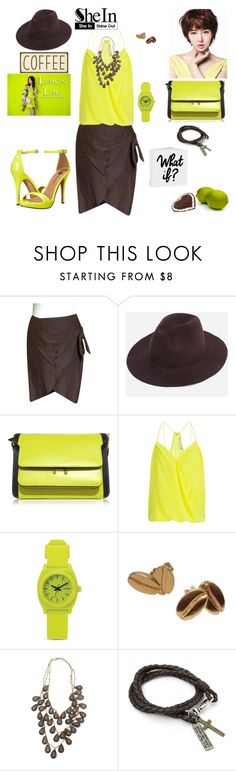 """What if coffee mixes with lime"" by agnesmakoni ❤ liked on Polyvore featuring ESCADA, Marni, Trina Turk, Nixon and Michael Antonio"