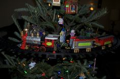 the train we have running around the middle of our christmas tree :) the kids love it!