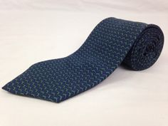 BROOKS BROTHERS 57L Mens Neck Tie Makers Blue Green Dolphins 100% Silk USA #BrooksBrothers #NeckTies #Ties