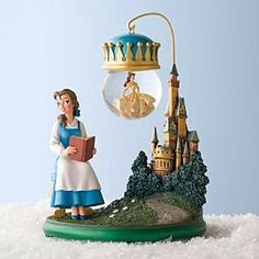 Disney Beauty and the Beast Snow Globe Ornament With Stand