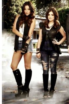 Pretty little lairs! Love their style Aria and Emily
