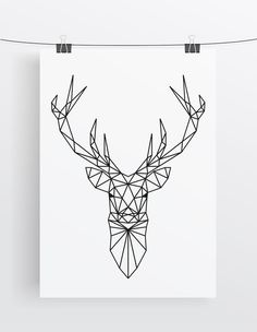 A shape with full of Geometric patterns in the Deer