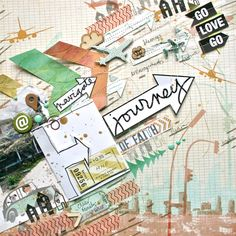 #papercrafting #scrapbook #layout Roundup and Recap - July 2013